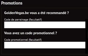 goldenvegas code promotionnel